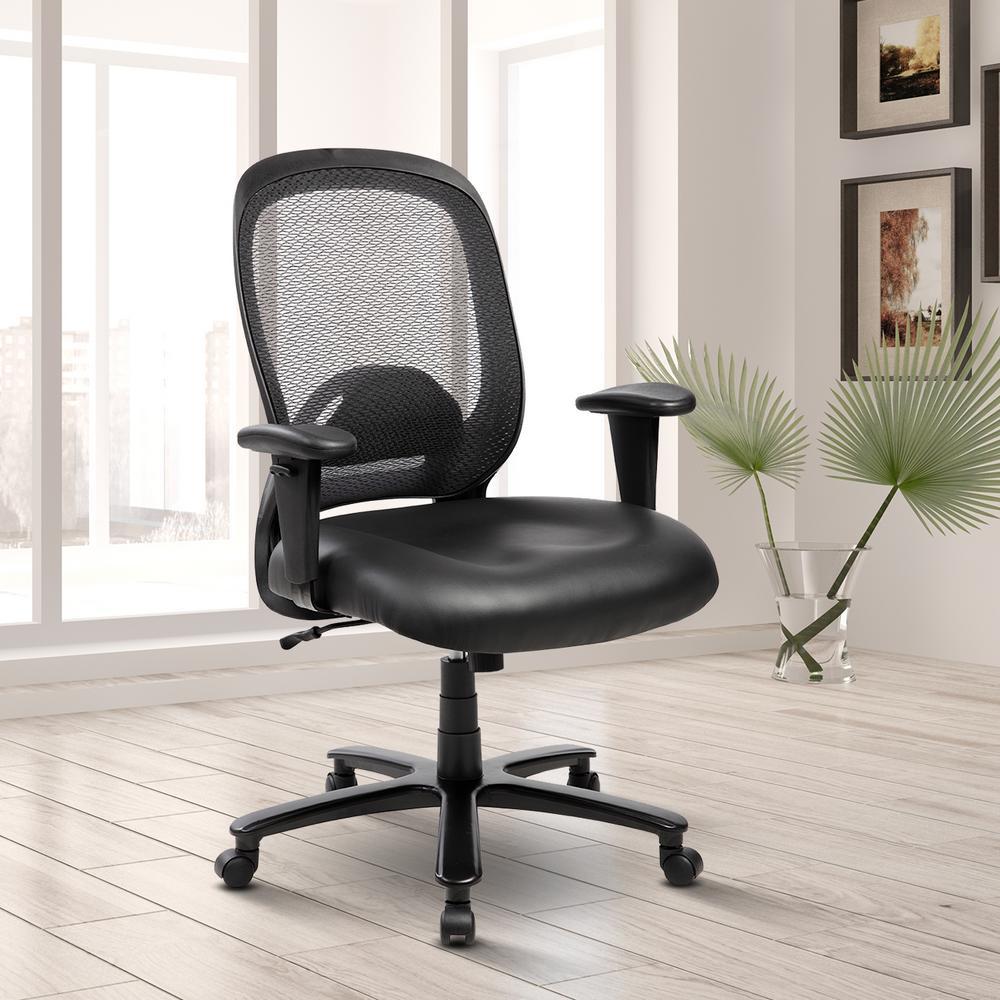 Stupendous Techni Mobili Black Comfortable Big And Tall Height Inzonedesignstudio Interior Chair Design Inzonedesignstudiocom