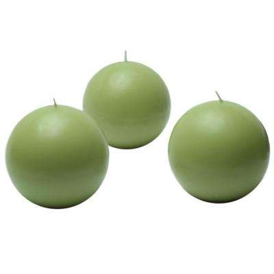 3 in. Sage Green Ball Candles (6-Box)
