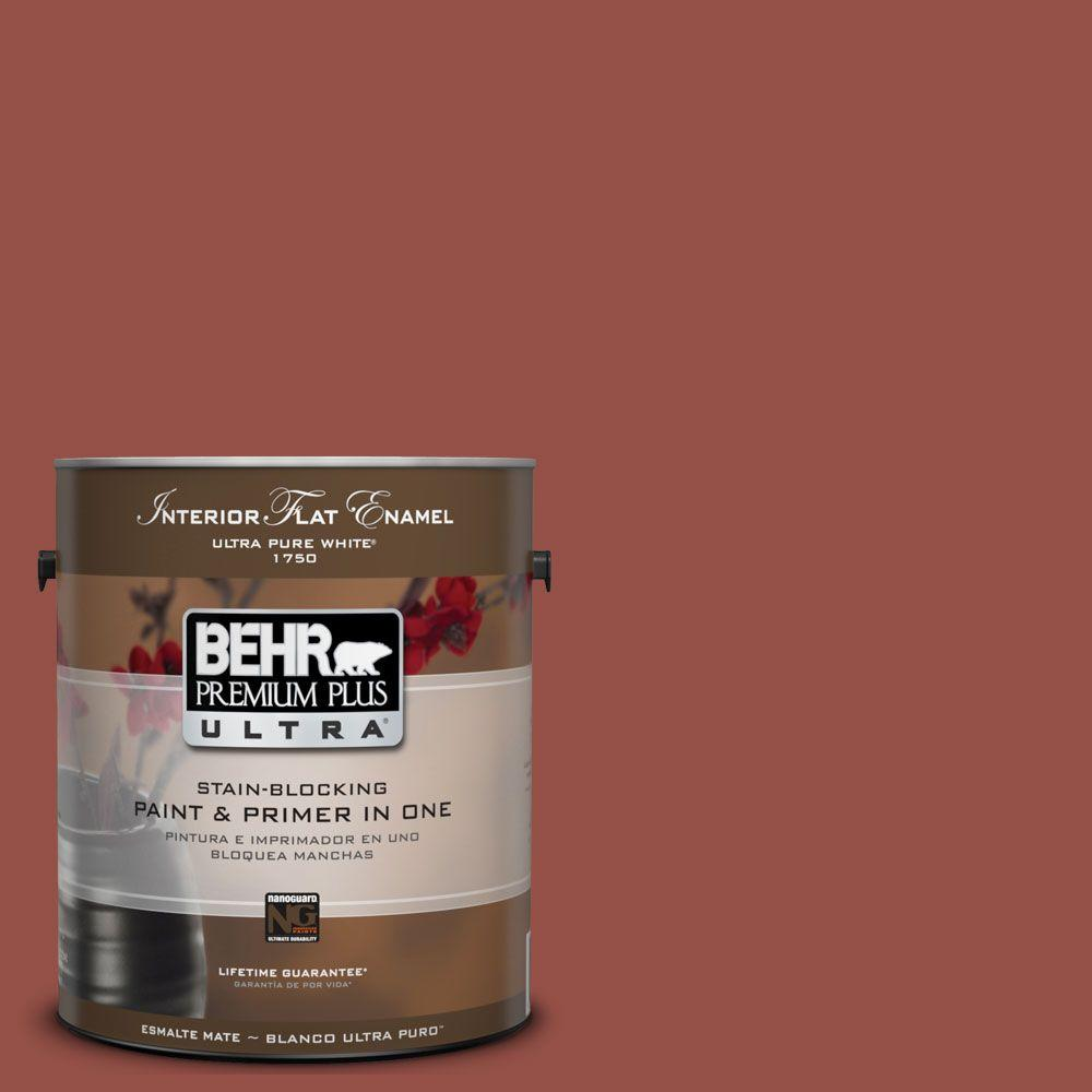 BEHR Premium Plus Ultra 1-gal. #UL120-21 Powdered Brick Interior Flat Enamel Paint