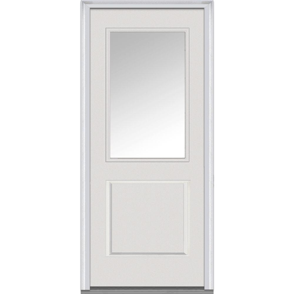 mmi door 32 in x 80 in right hand inswing 1 2 lite clear 1 panel