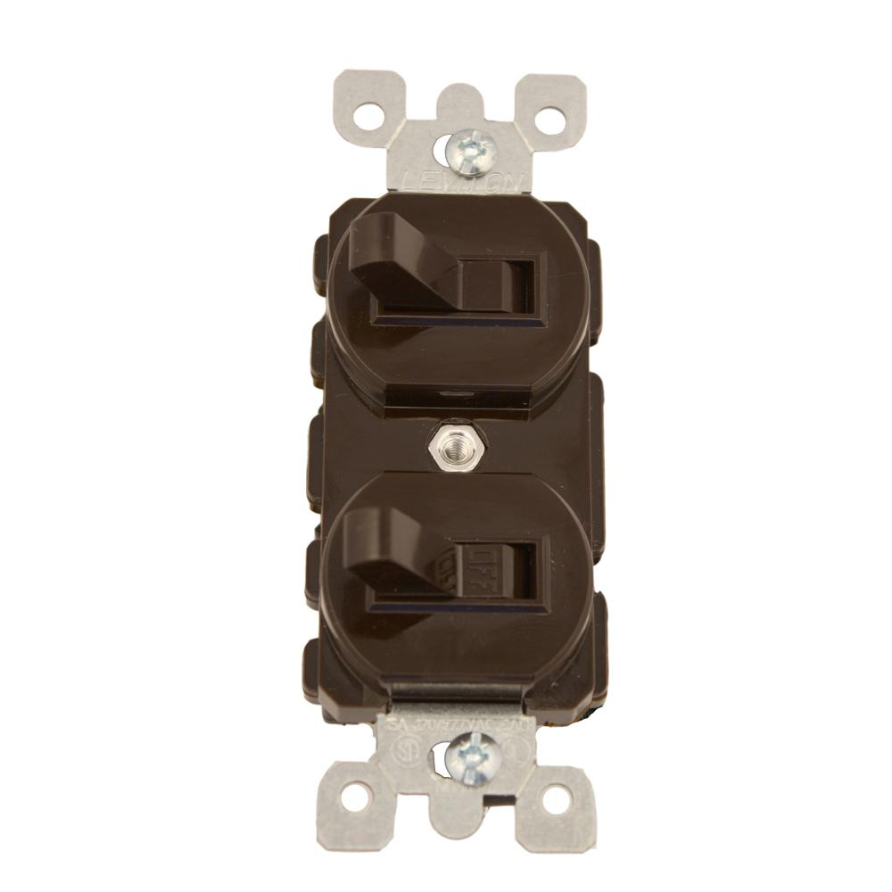Leviton 15 Amp Commercial Grade Combination Single Pole Toggle ...