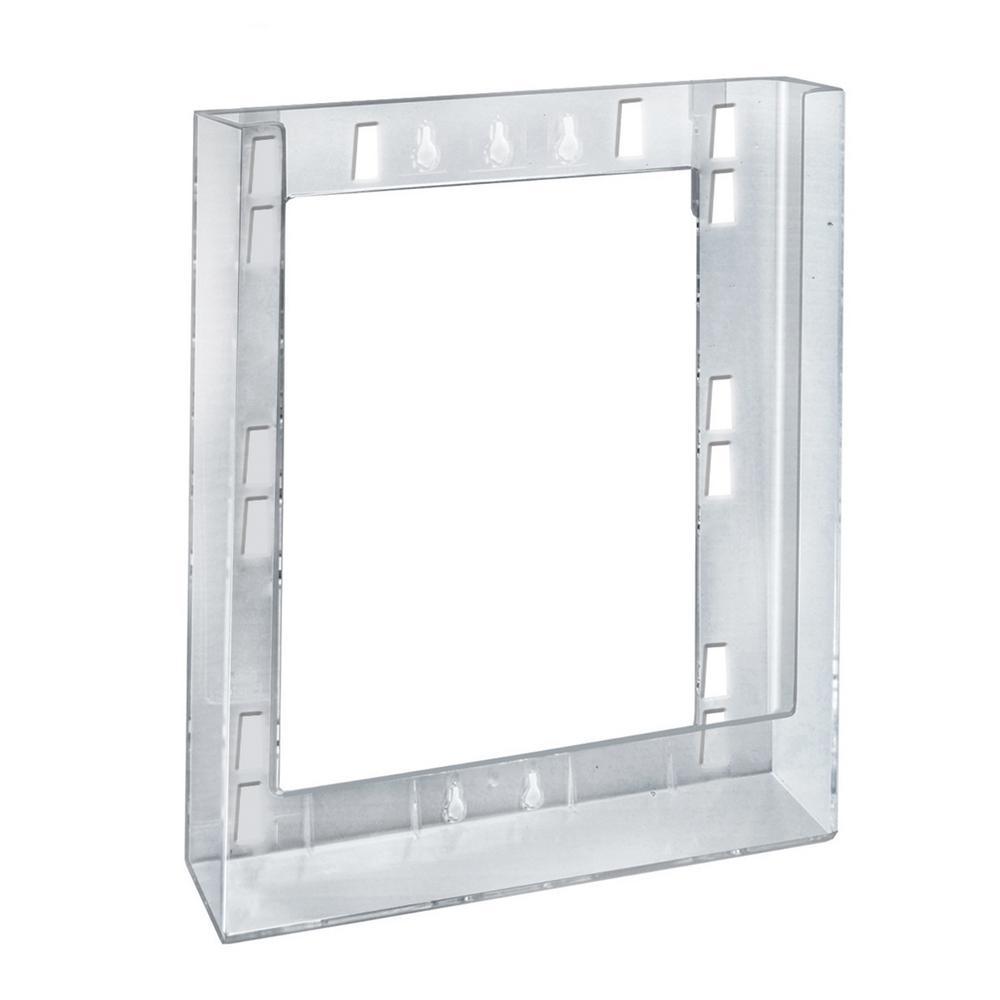 Single Letter Wall Mount Modular Brochure Holder (10-Pack)