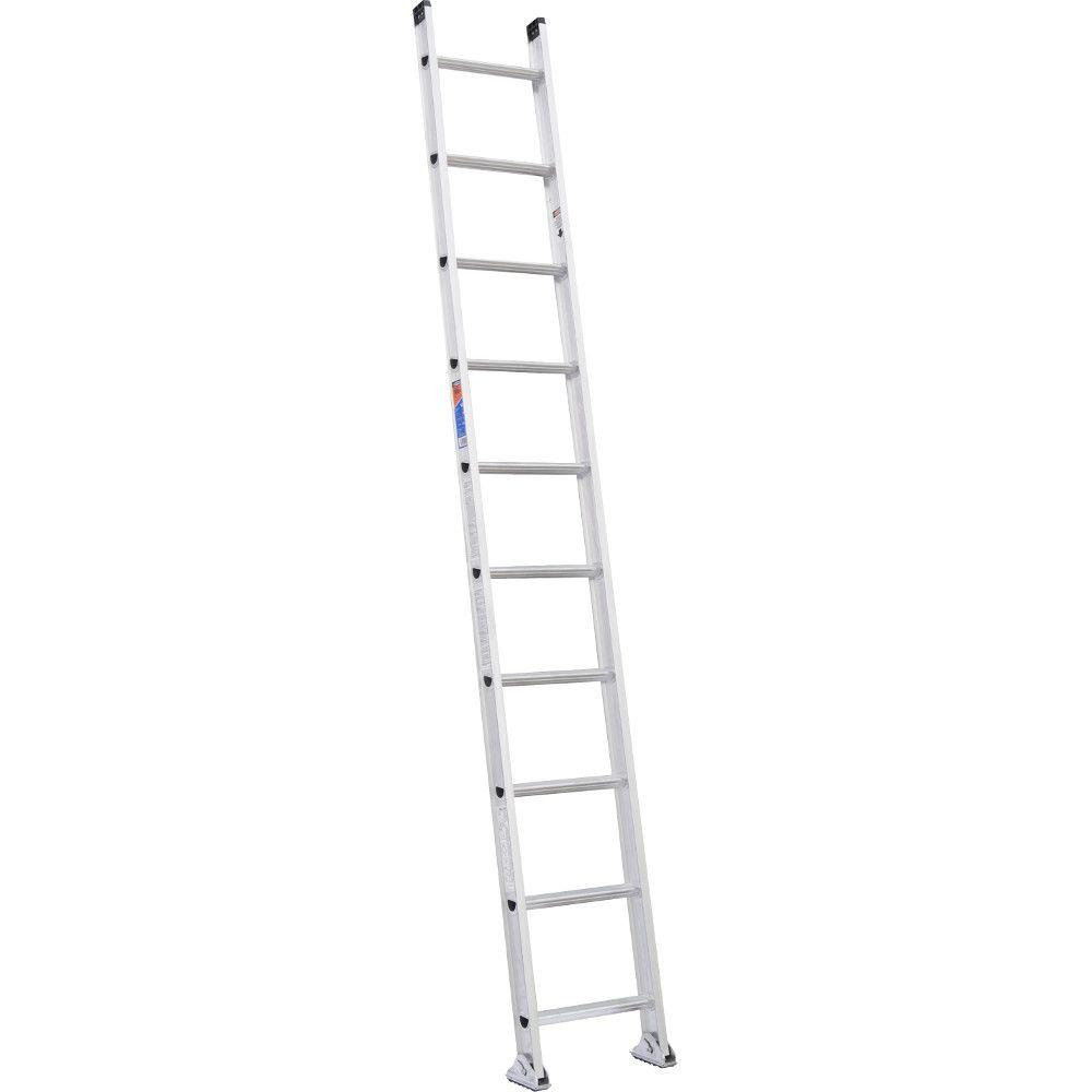 10 ft. Aluminum D-Rung Straight Extension Ladder with 300 lb. Load