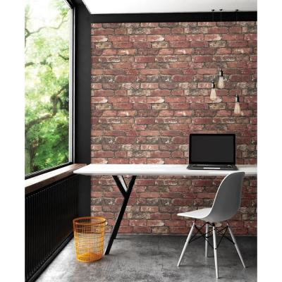 Loft Red Brick Paper Strippable Wallpaper (Covers 56.4 sq. ft.)
