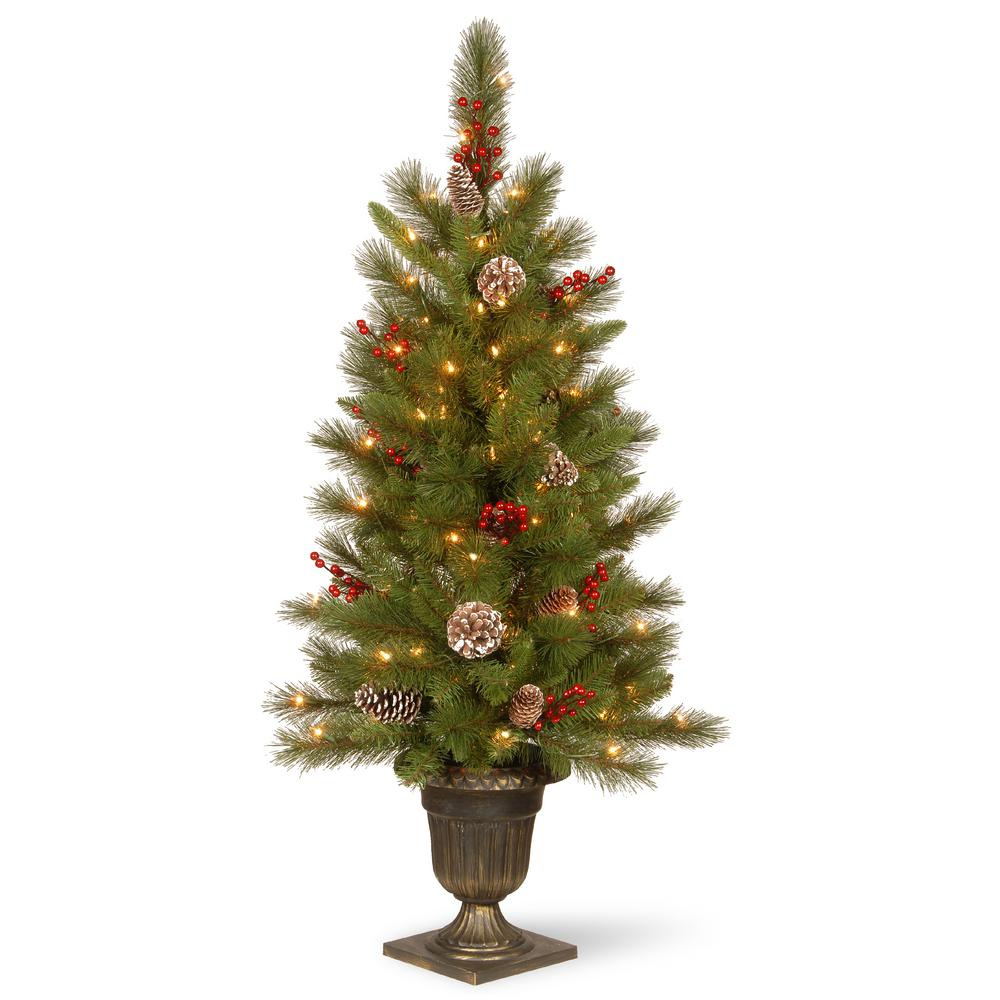 50 Foot Christmas Tree: Home Accents Holiday 4 Ft. Red Poinsettia And Twig