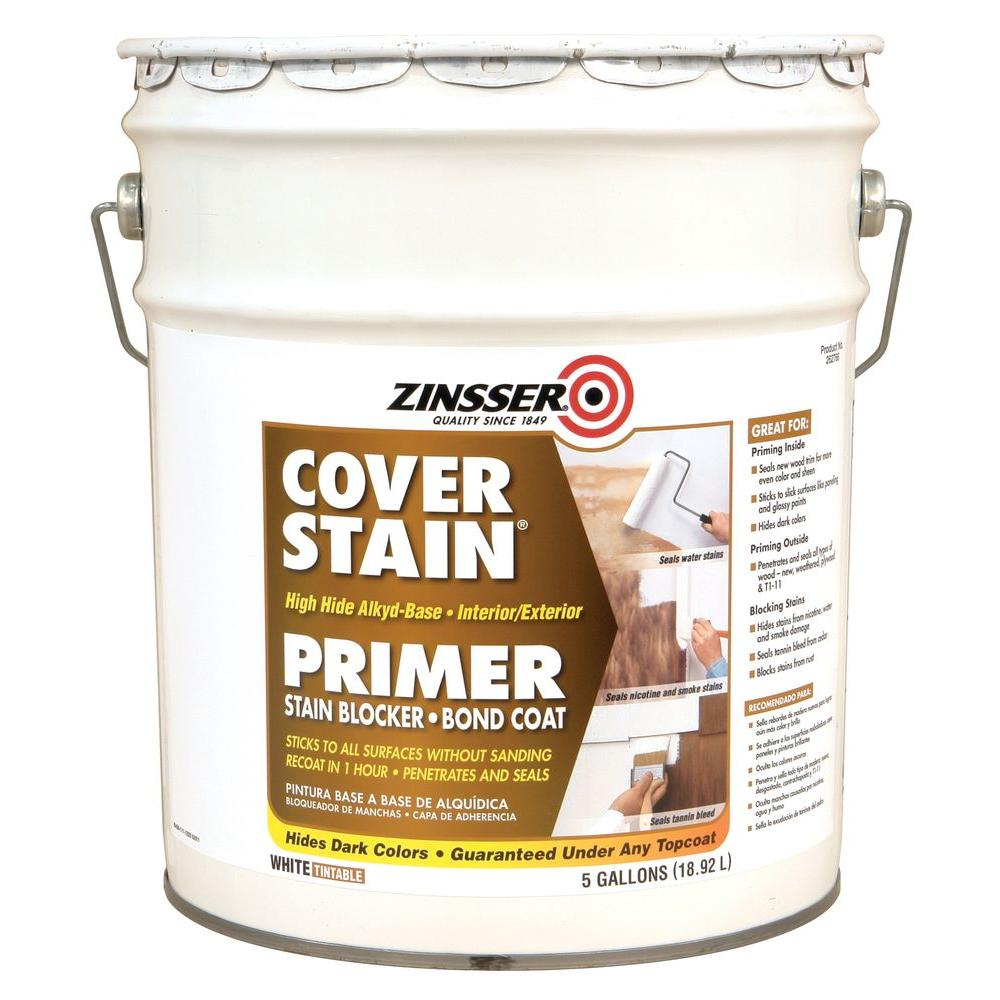 Zinsser 5 gal cover stain alkyd 262766 the home depot for What are alkyd paints