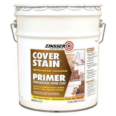 Cover Stain 5 gal. White High Hide Alkyd-Base Interior/Exterior Primer and Sealer