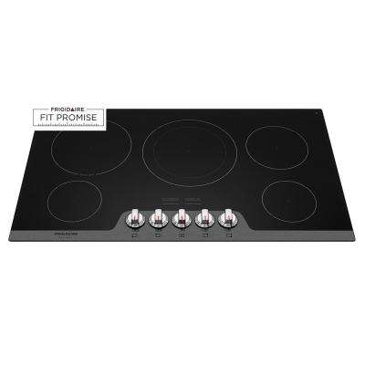 36 in. Radiant Electric Cooktop in Stainless with 5 Elements
