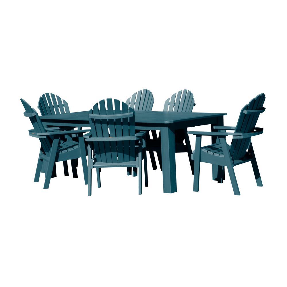Hamilton Nantucket Blue 7-Piece Recycled Plastic Rectangular Outdoor Dining Set