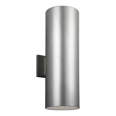 Outdoor Cylinders Extra Large Painted Brushed Nickel Outdoor Integrated LED Wall Mount Lantern
