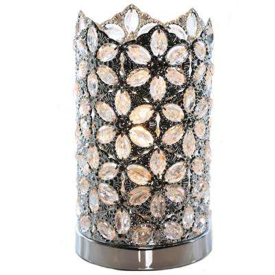Poetic Wanderlust by Tracy Porter 10.5 in. Clear Table Lamp with Fairlea Jeweled Chrome Shade