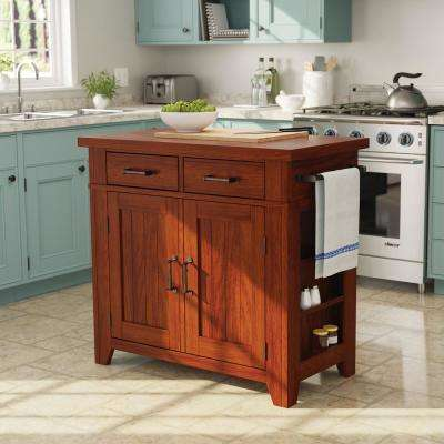 Urban Farmhouse Kitchen Island Vintage Oak Base with Vintage Oak Top