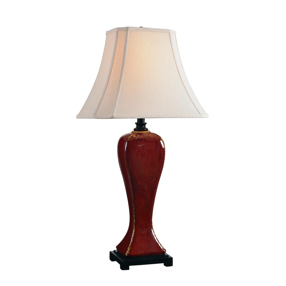 Beau Crimson Red Table Lamp