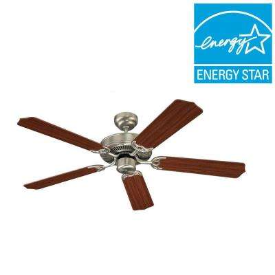 Quality Max 52 in. Brushed Nickel Indoor Ceiling Fan