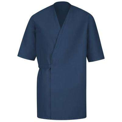 Unisex Size L Navy Collarless Butcher Wrap