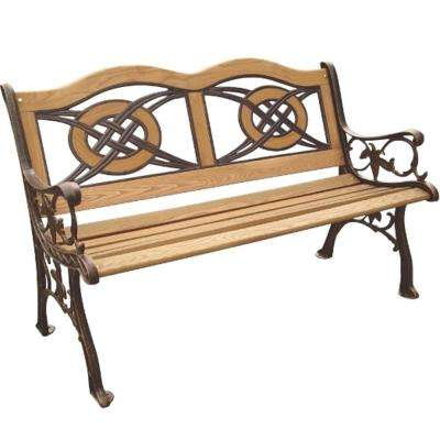 Kokomo Wood Inlay Patio Park Bench