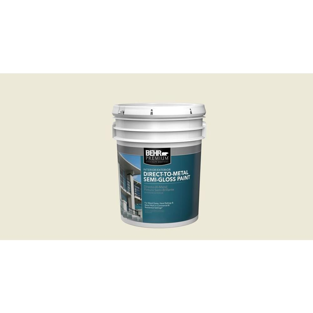 5 gal. White Semi-Gloss Direct-to-Metal Interior/Exterior Paint
