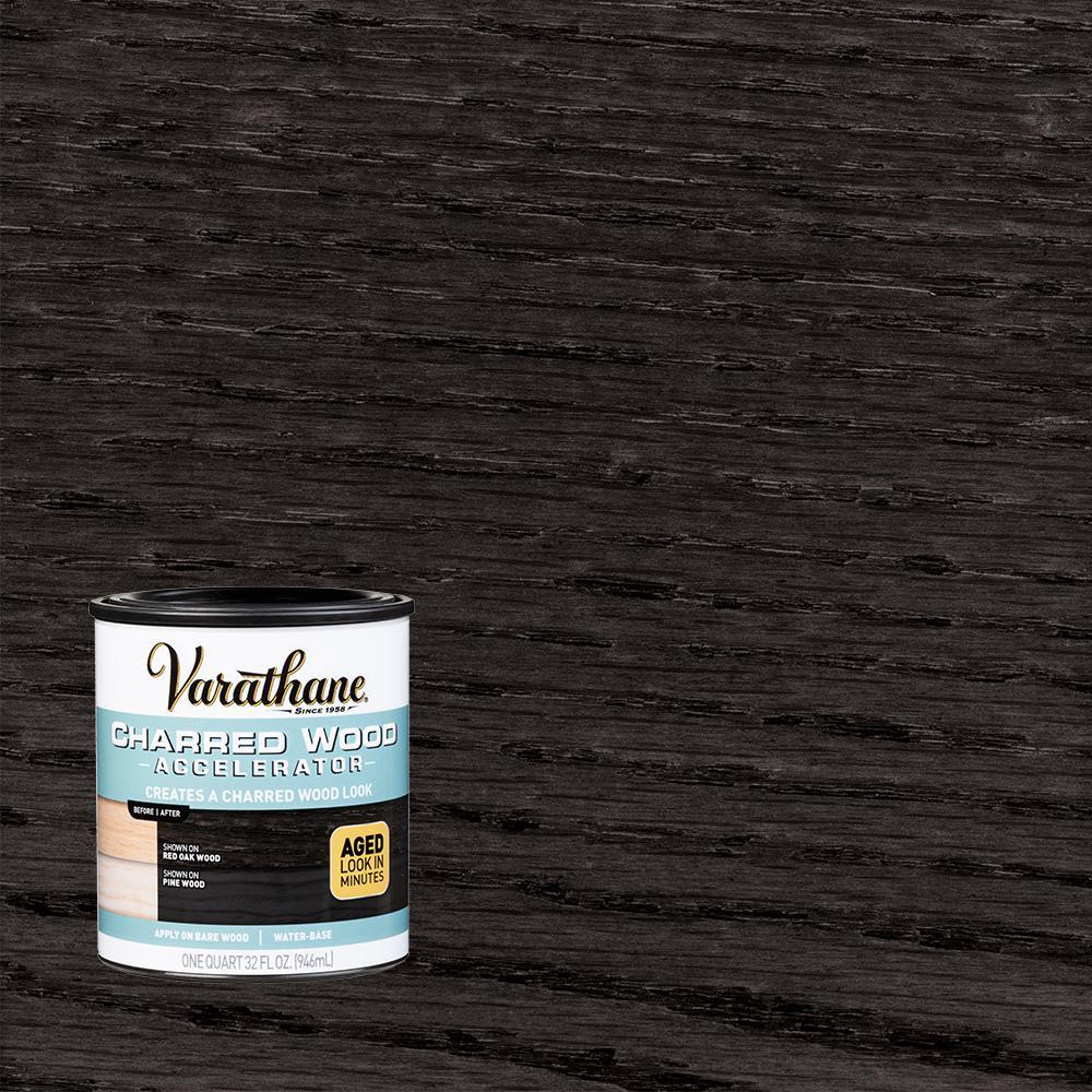 Varathane 1 qt. Interior Charred Wood Accelerator