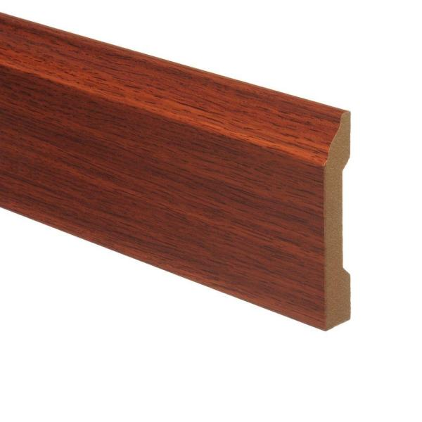 Zamma Brazilian Cherry 9 16 In Thick X 3 1 4 In Wide X 94 In Length Laminate Wall Base Molding 013041532 The Home Depot