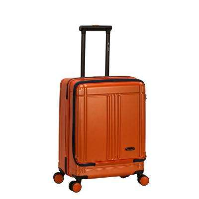 Tokyo 18 in. Orange Expandable Hard Side Spinner Carry on Laptop with TSA Lock