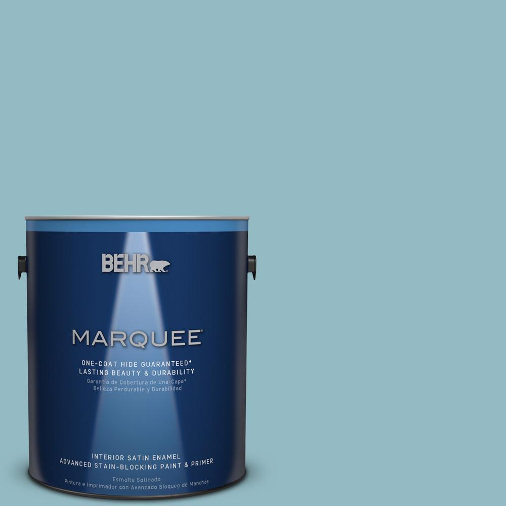1 gal. #T18-13 Casual Day Satin Enamel Interior Paint