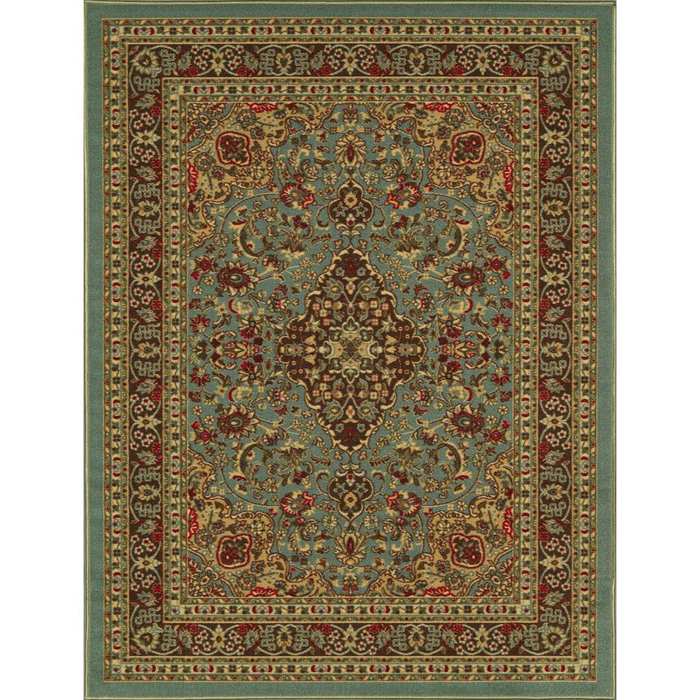 Ottomanson Traditional Floral Design Dark Red 2 Ft X 7 Ft: Ottomanson Pink Collection Contemporary Moroccan Trellis