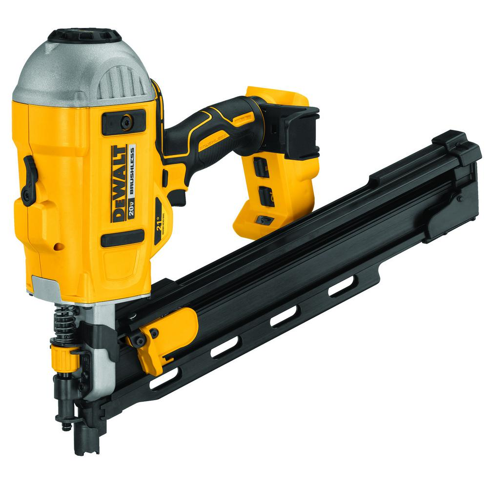 DEWALT 20-Volt MAX XR Lithium-Ion Cordless Brushless 2-Speed 21° Plastic Collated Framing Nailer (Tool Only)
