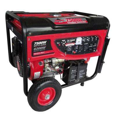 GP7500EB, 6,200 Continuous Watts, Gasoline Powered Portable Generator