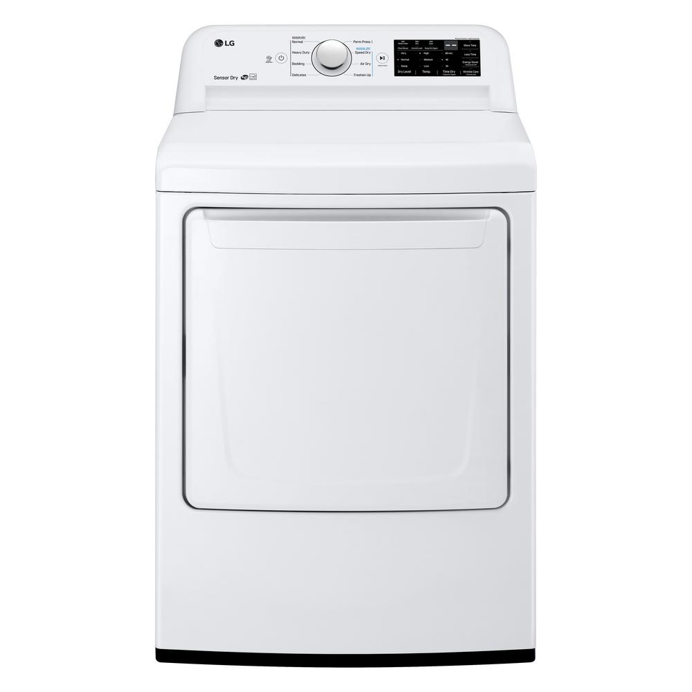 7.3 cu.ft. Ultra Large High Efficiency Gas Dryer in White