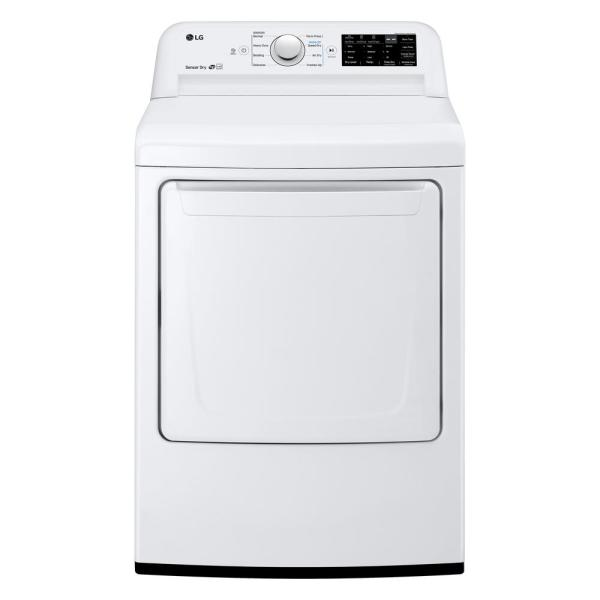 7.3 cu. ft. Ultra Large High Efficiency Front Load Gas Dryer with Sensor Dry and SmartDiagnosis in White, ENERGY STAR