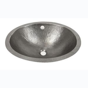 Barclay Products Undermounted Bathroom Sink in Hammered Pewter by Barclay Products