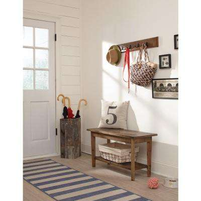 Revive Rustic Coat Hook and Bench Set