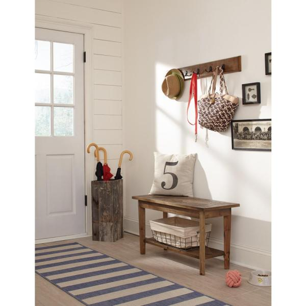 Alaterre Furniture Revive Rustic Coat Hook and Bench Set ARVA030920