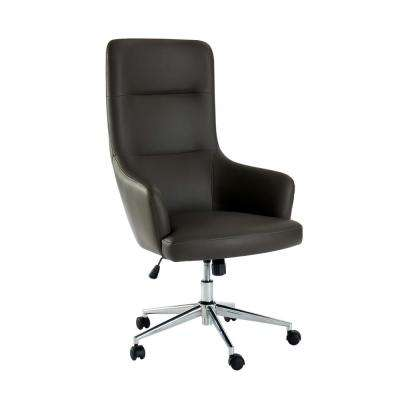 Davis Gray Upholstered Height Adjustable Office Chair
