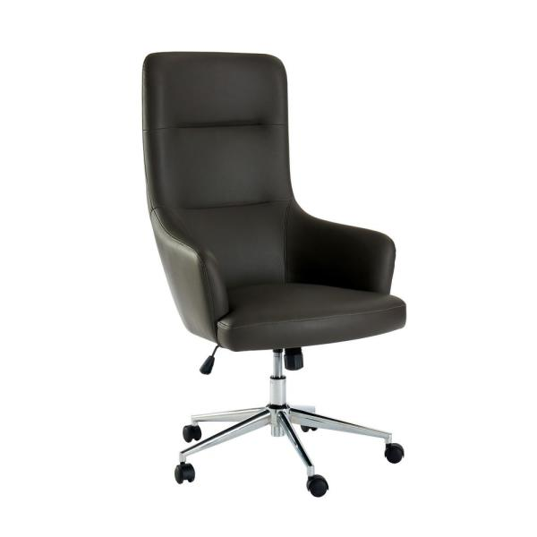 Furniture of America Davis Gray Upholstered Height Adjustable Office Chair