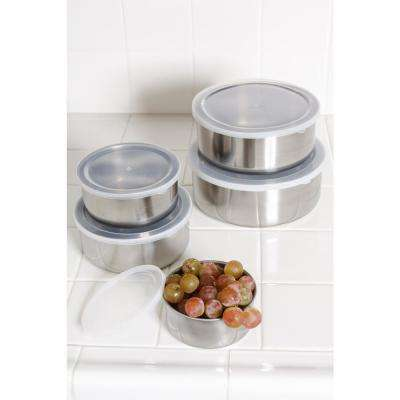 20-Piece Stainless Steel Food Storage Containers with Lids Set