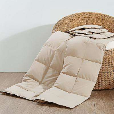 50 in. x 70 in. Khaki Natural Down and Feather Throw