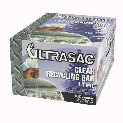 45-Gallon Clear Recycling Bags (100-Count)