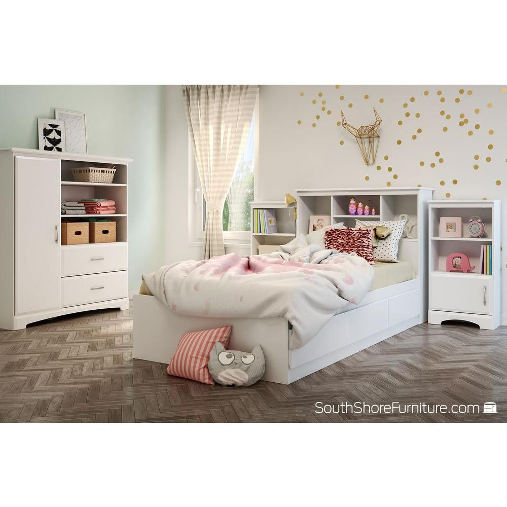 South Shore Callesto Pure White Armoire White Armoire With Drawers O75