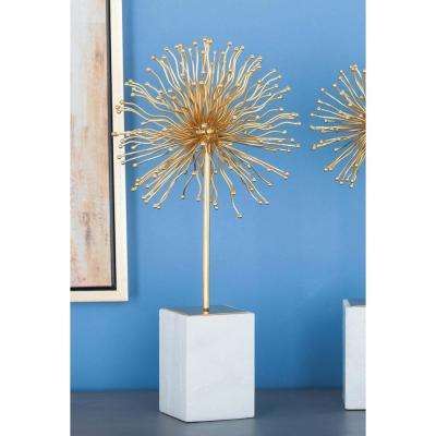 20 in. Starburst Decorative Sculpture in Gold