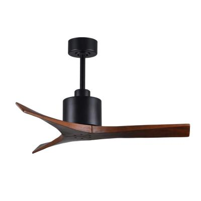 Mollywood 42 in. Matte Black Ceiling Fan with Hand Held Remote and Wall Control
