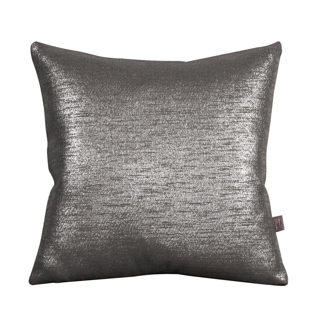 Glam Gray Zinc 20 in. x 20 in. Decorative Pillows