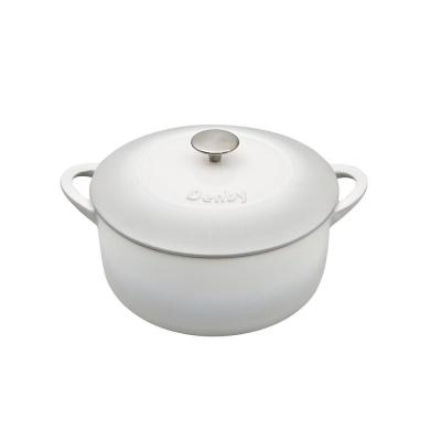 Natural Canvas Cast Iron 4 Qt. Round Casserole