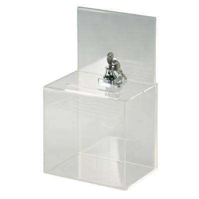 Small Acrylic Locking Collection Box
