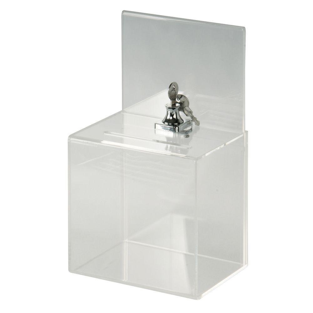Small Acrylic Locking Collection Box