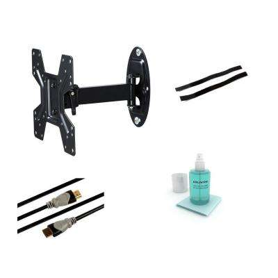 Full Motion Articulating Steel Wall Mount Kit for 10 in. to 37 in. Flat Panel TVs - Black