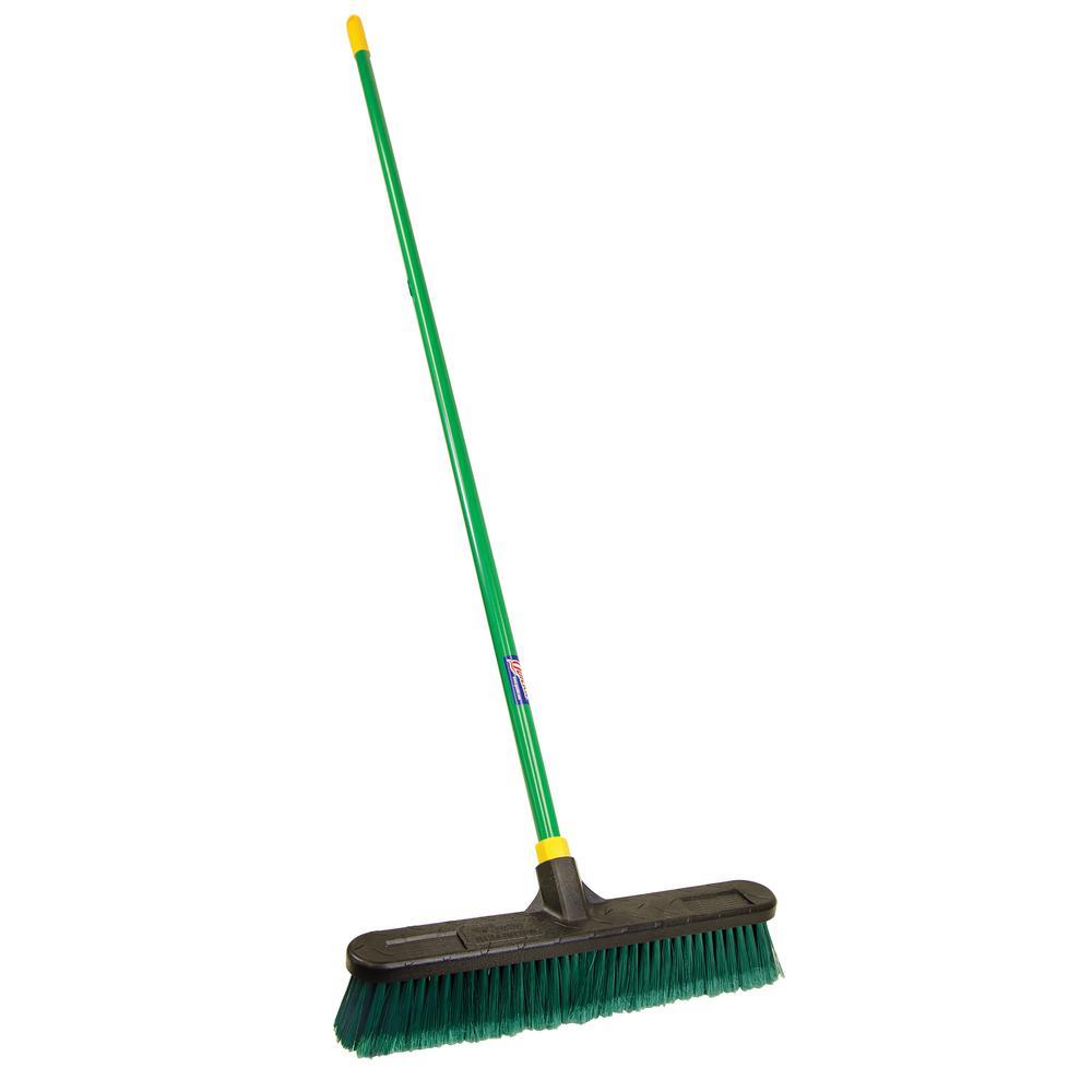 Quickie Bulldozer 18 in. Indoor/Outdoor Push Broom