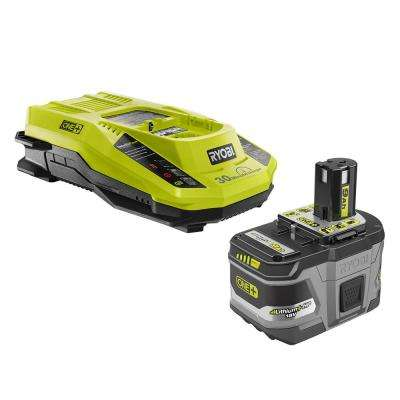 18-Volt ONE+ Lithium-Ion 9.0 Ah LITHIUM+ HP High Capacity Battery Kit with 18-Volt IntelliPort Rapid Charger