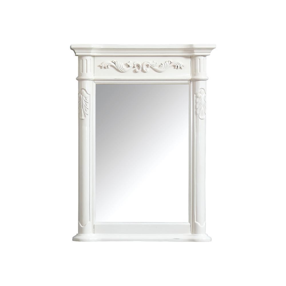 Avanity Provence 24 in. x 33 in. Framed Wall Mirror in Antique White