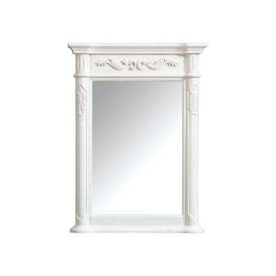 Provence 24 in. x 33 in. Framed Wall Mirror in Antique White